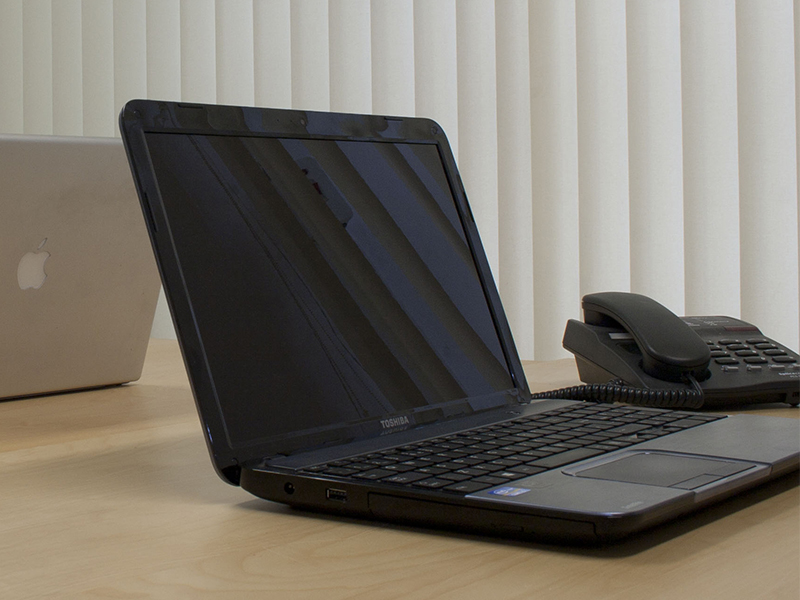 Laptop and Phone
